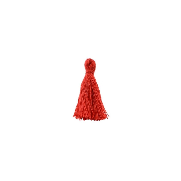 "Mini Tassel Cotton 1"" - Red (Pack of 40)"