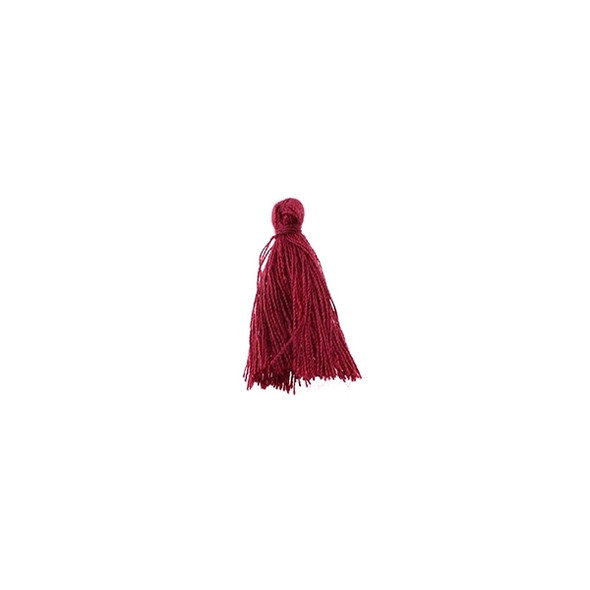 "Mini Tassel Cotton 1"" - Garnet (Pack of 40)"