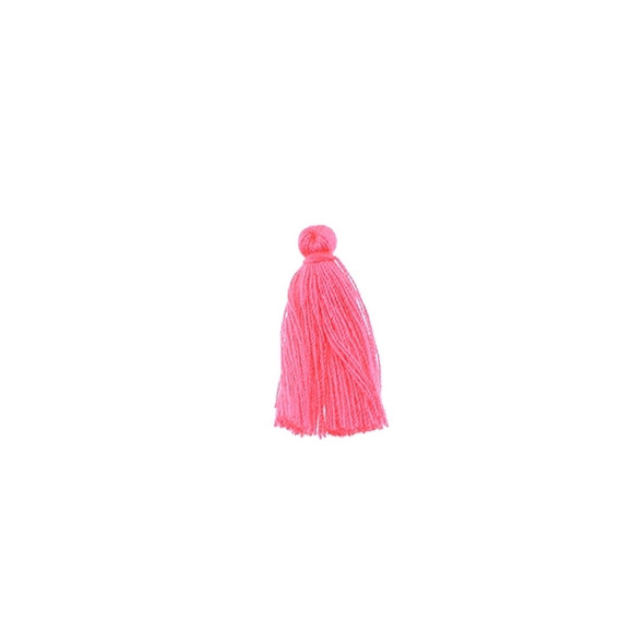 "Mini Tassel Cotton 1"" -  Florescent Pink (Pack of 40)"
