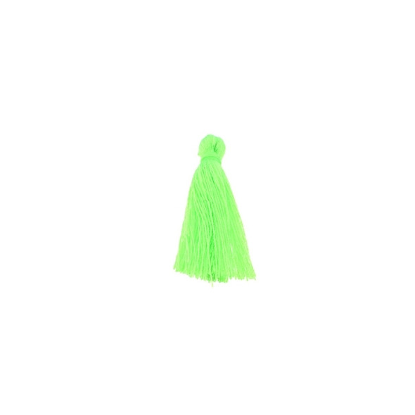 "Mini Tassel Cotton 1"" -  Florescent Green (Pack of 40)"