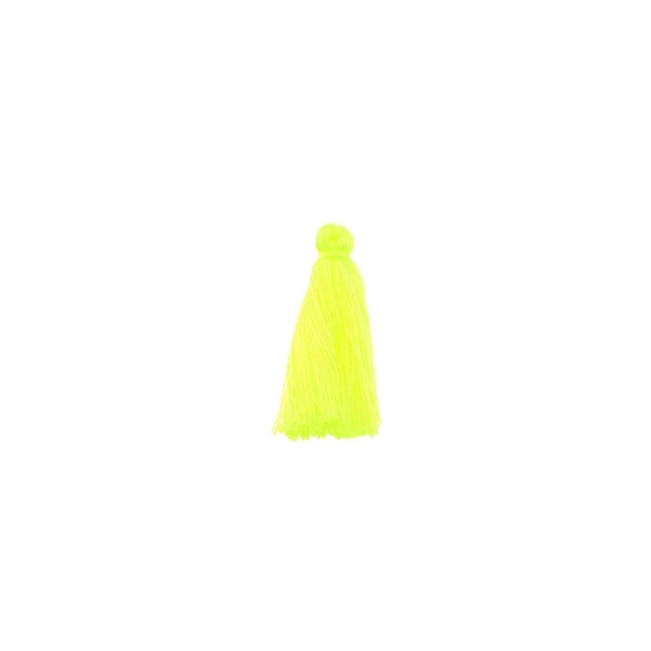"Mini Tassel Cotton 1"" -  Florescent Yellow (Pack of 40)"