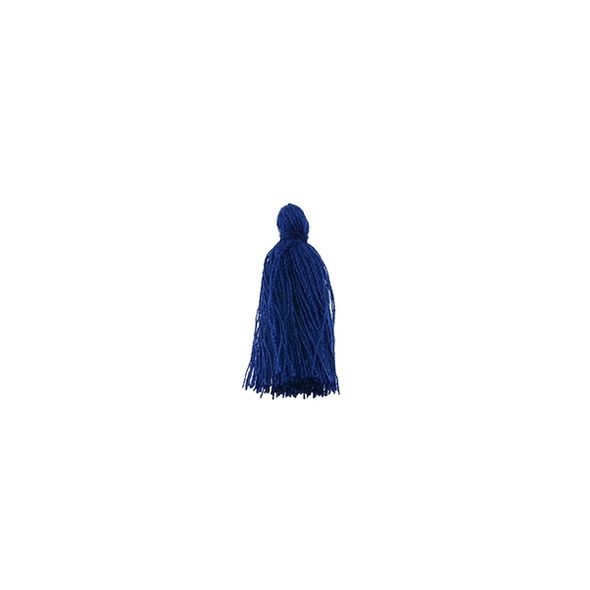 "Mini Tassel Cotton 1"" - Dark Navy Blue (Pack of 40)"