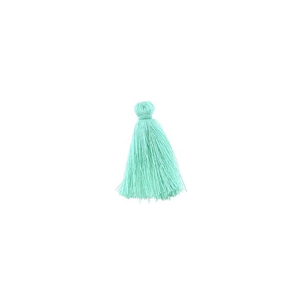 """Mini Tassel Cotton 1"""" - Mint Green (Pack of 40)"""
