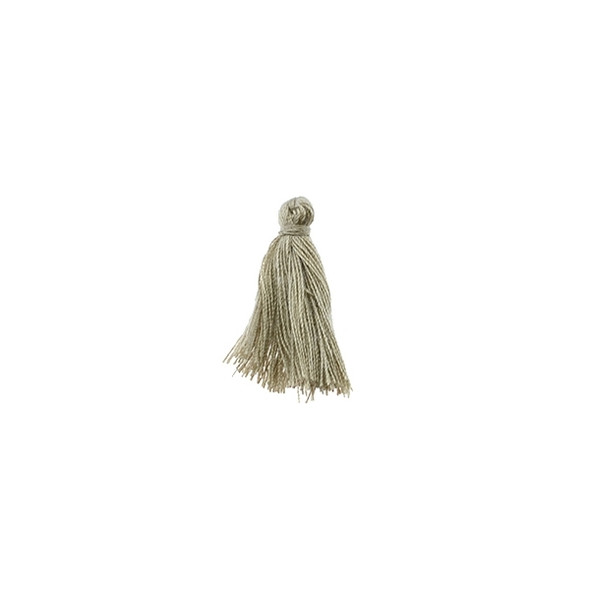 "Mini Tassel Cotton 1"" - Beige (Pack of 40)"
