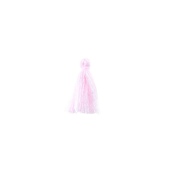 """Mini Tassel Cotton 1"""" - Baby Pink (Pack of 40)"""