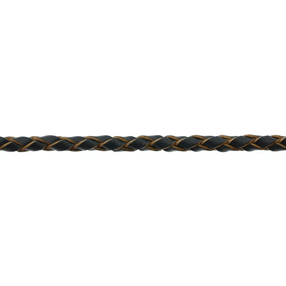 Leather Grey Braided 3.0mm - 5 Meters