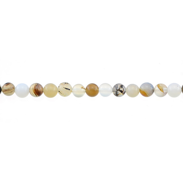 Natural African Agate Round 6mm - Loose Beads