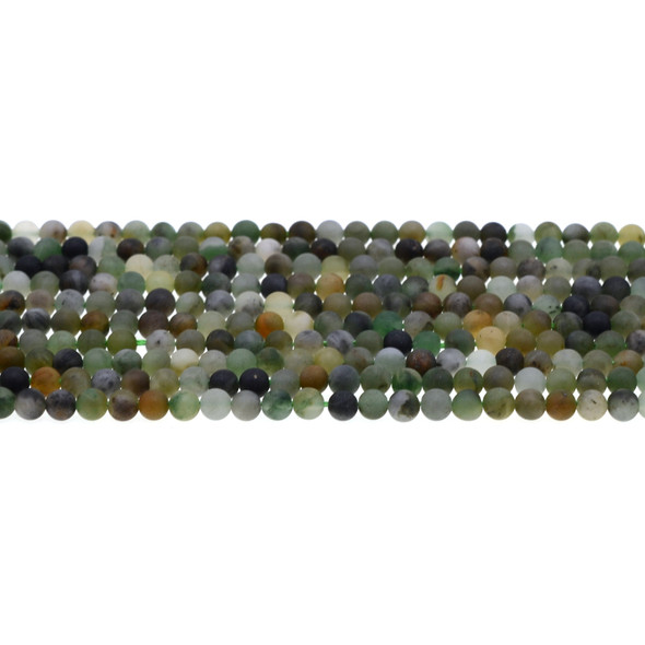 African Jade Round Frosted 4mm - Loose Beads