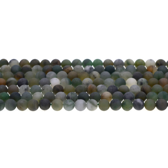 African Jade Round Frosted 6mm - Loose Beads