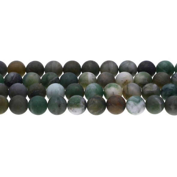 African Jade Round Frosted 10mm - Loose Beads
