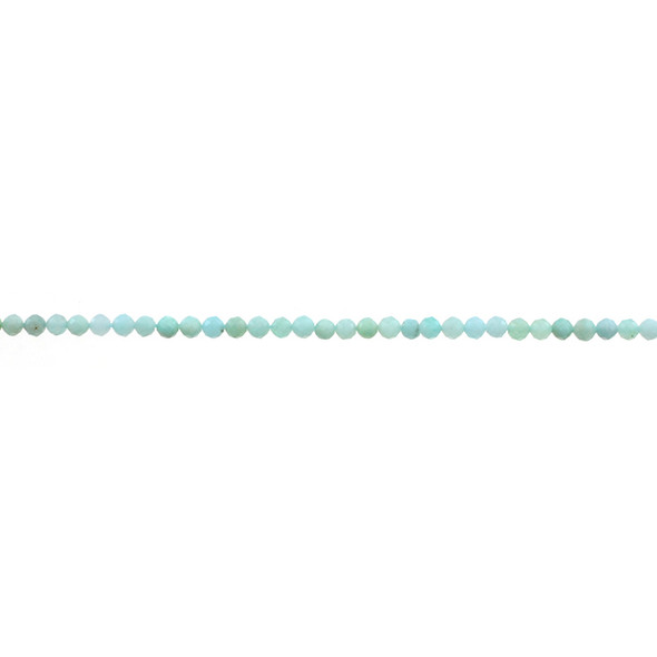 Amazonite Round Faceted Diamond Cut 3mm - Loose Beads