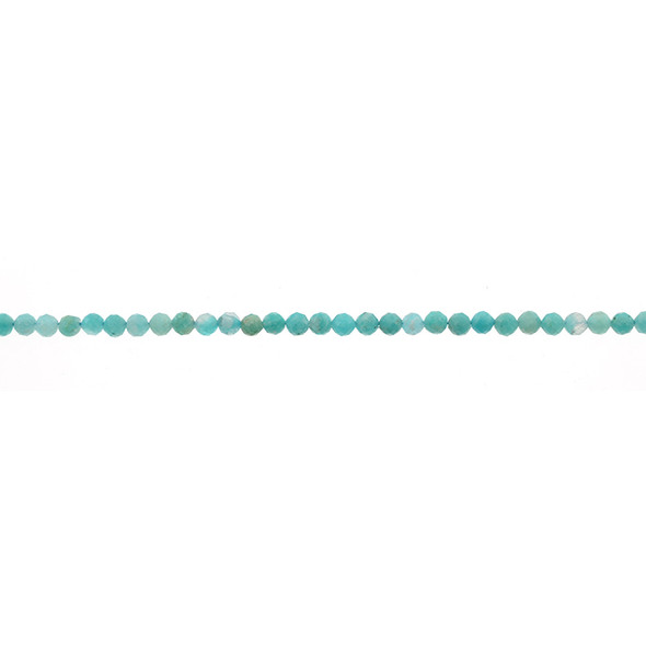 Amazonite A Round Faceted Diamond Cut 3mm - Loose Beads