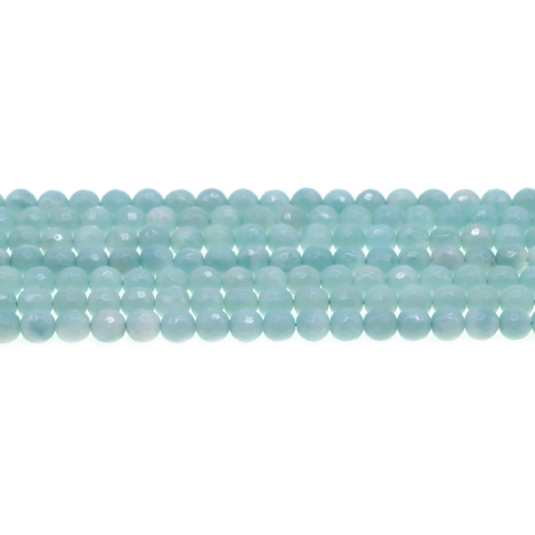Amazonite Round Faceted 6mm - Loose Beads