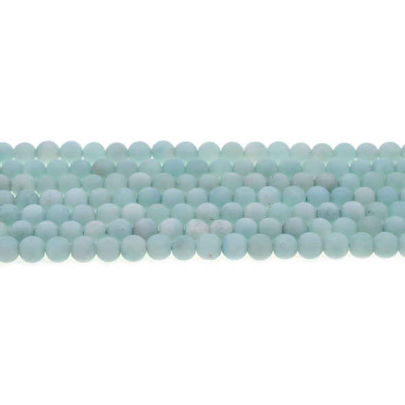 Amazonite Round Frosted 6mm - Loose Beads