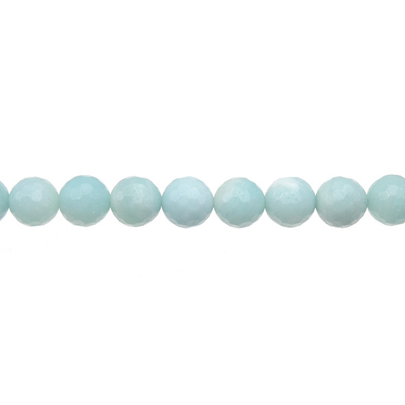 Amazonite Round Faceted 8mm - Loose Beads