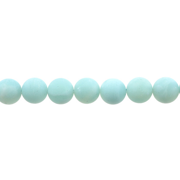Amazonite Round Frosted 12mm - Loose Beads