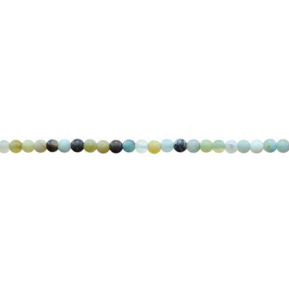 Multicolor Amazonite Round 3mm - Loose Beads