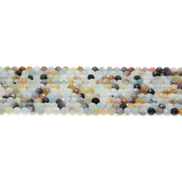 Multicolor Amazonite Round Faceted 4mm - Loose Beads