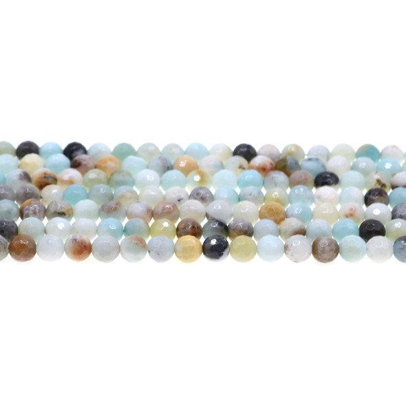 Multicolor Amazonite Round Faceted 6mm - Loose Beads