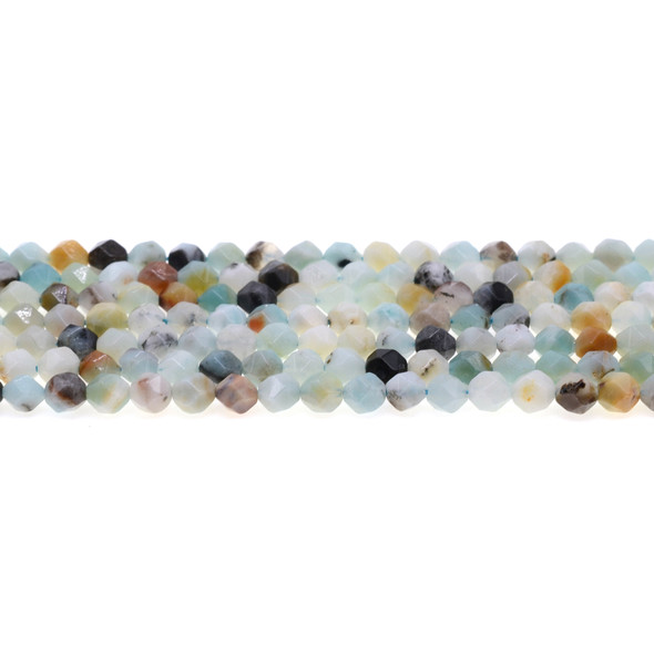 Multicolor Amazonite Round Large Cut 6mm - Loose Beads