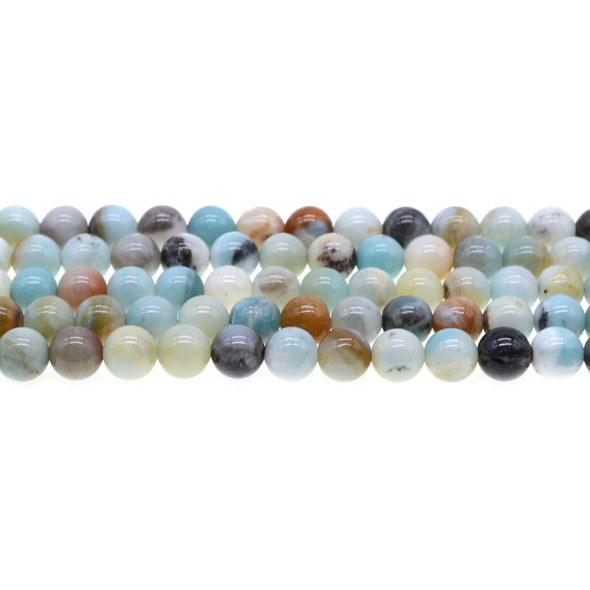 Multicolor Amazonite Round 8mm - Loose Beads