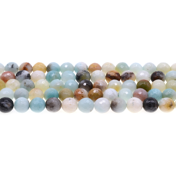 Multicolor Amazonite Round Faceted 8mm - Loose Beads