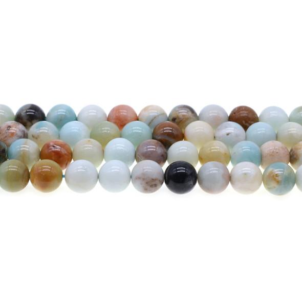 Multicolor Amazonite Round 10mm - Loose Beads