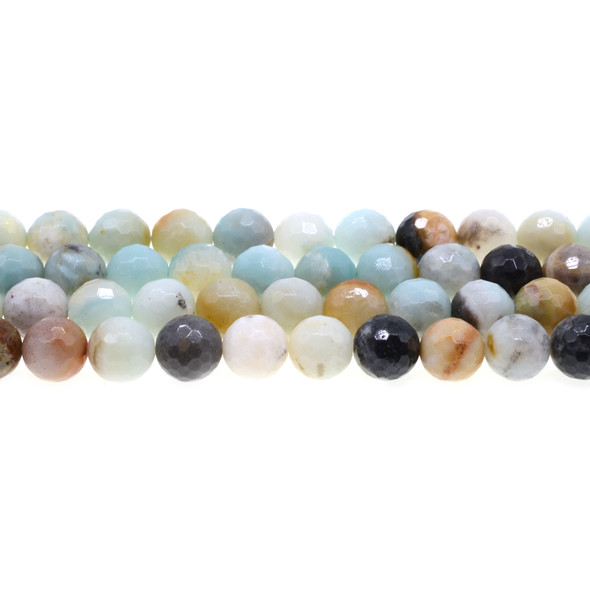 Multicolor Amazonite Round Faceted 10mm - Loose Beads