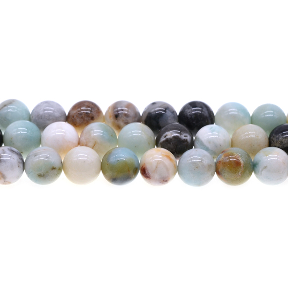 Multicolor Amazonite Round 12mm - Loose Beads
