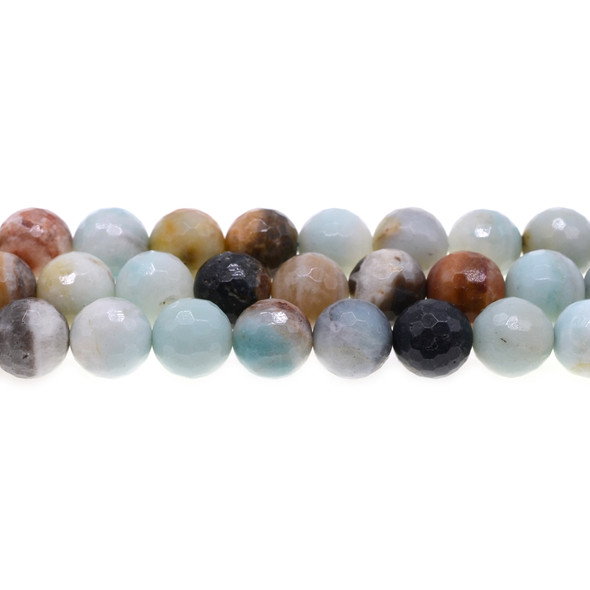 Multicolor Amazonite Round Faceted 12mm - Loose Beads