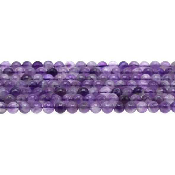Amethyst Banded Round 6mm - Loose Beads