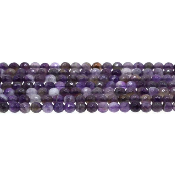 Amethyst Banded Round Faceted 6mm - Loose Beads