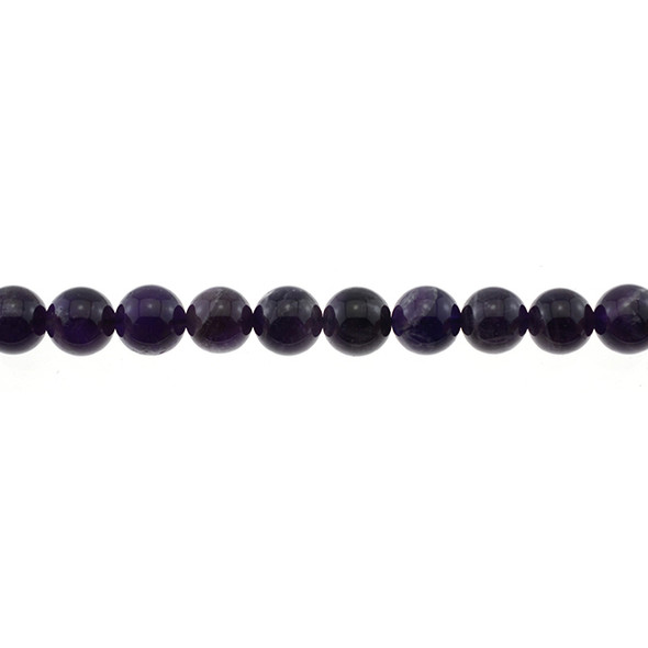 Amethyst Banded Round 10mm - Loose Beads