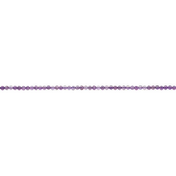 Amethyst AB Round Faceted Diamond Cut 2mm - Loose Beads