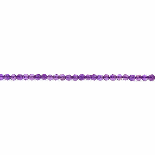 Amethyst Round Faceted 3mm - Loose Beads