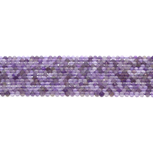 Amethyst AB Round Faceted Diamond Cut 3mm - Loose Beads