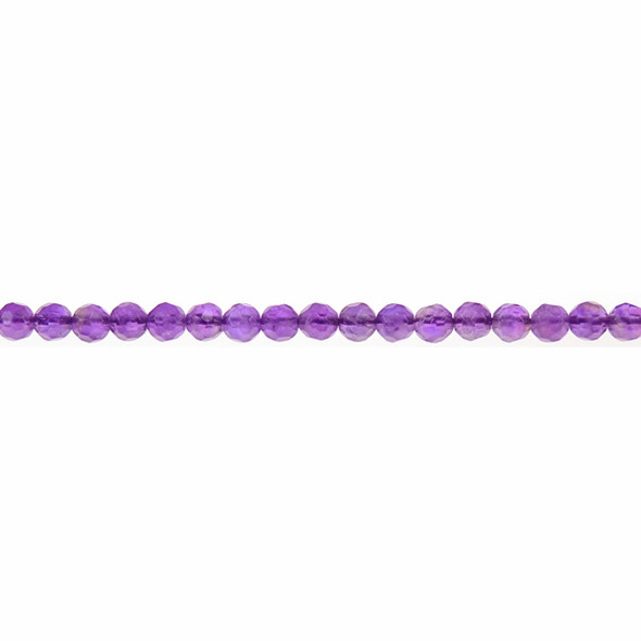 Amethyst Round Faceted 4mm - Loose Beads