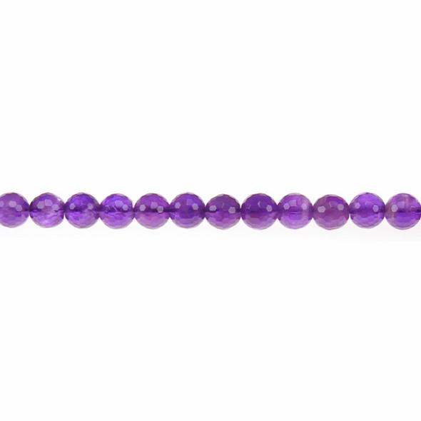 Amethyst Round Faceted 6mm - Loose Beads