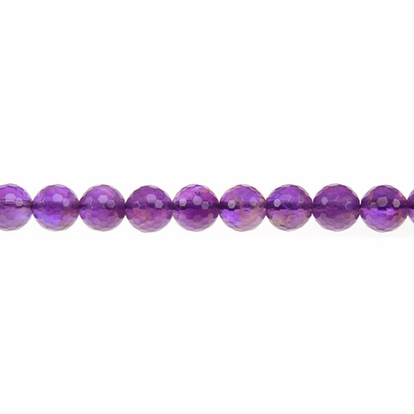 Amethyst Round Faceted 8mm - Loose Beads