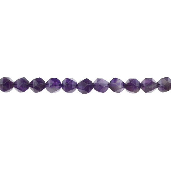 Amethyst AB Round Large Cut 8mm - Loose Beads