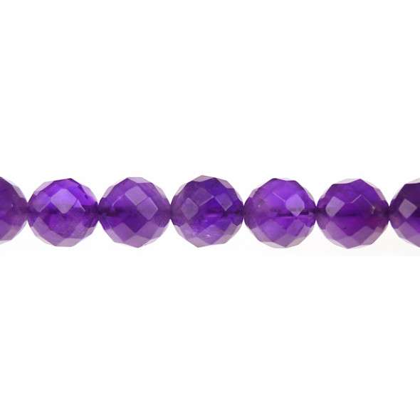 Amethyst Round Faceted 12mm - Loose Beads