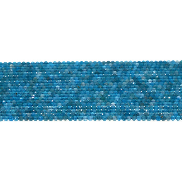 Apatite Round Faceted Diamond Cut 2mm - Loose Beads