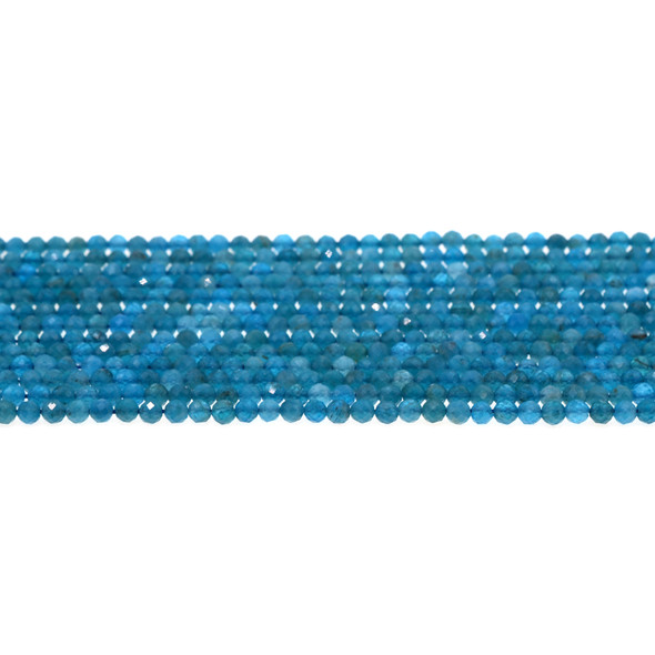Apatite Round Faceted Diamond Cut 3mm - Loose Beads