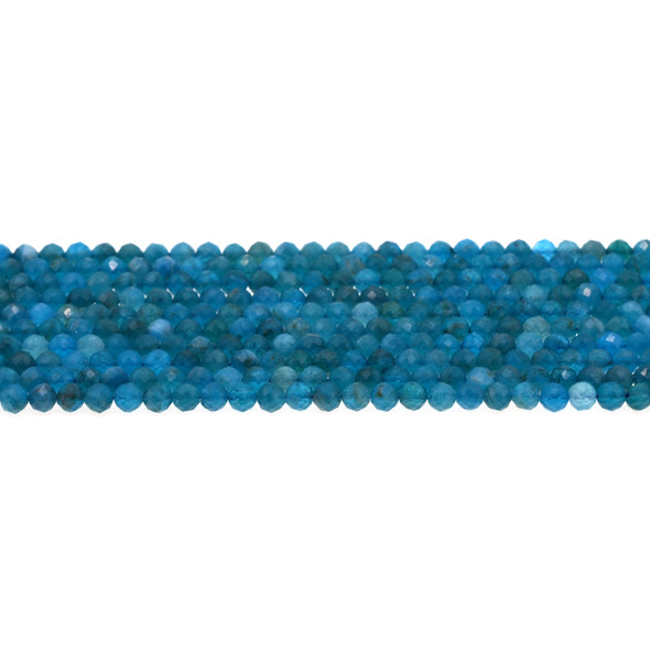 Apatite Round Faceted Diamond Cut 4mm - Loose Beads