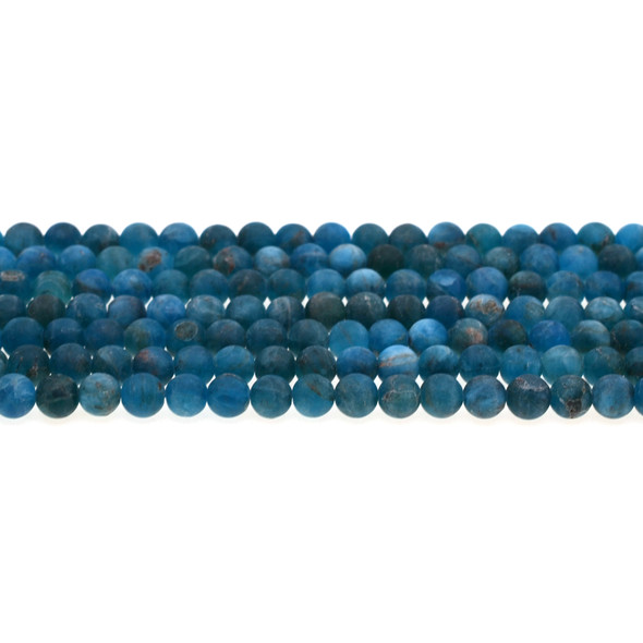 Apatite Round Frosted 6mm - Loose Beads