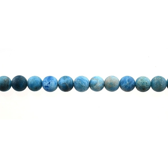 Apatite Round Frosted 8mm - Loose Beads
