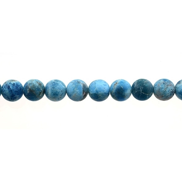 Apatite Round Frosted 10mm - Loose Beads