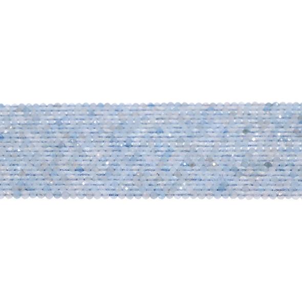 Aquamarine Round Faceted Diamond Cut 2mm - Loose Beads