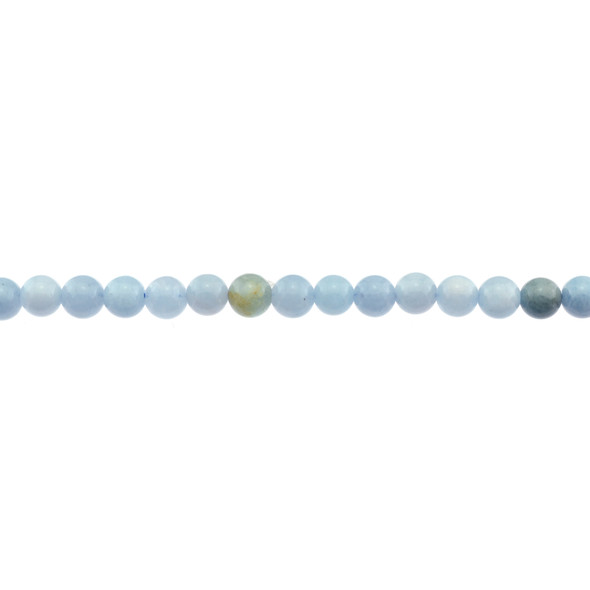Aquamarine B Round 6mm - Loose Beads