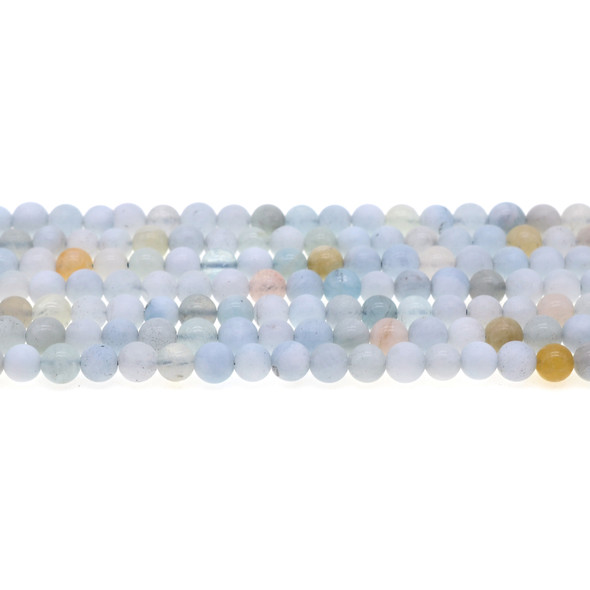 Aquamarine Round Frosted 6mm - Loose Beads